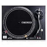 Reloop RP-4000 MK2 - DJ Plattenspieler mit starkem Torque Direktantrieb, Inkl. Plattenteller, OM Black Tonabnehmersystem, Headshell, Slipmat und Gegengewicht, schwarz